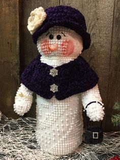RESERVED for LIANE Handcrafted Snowman Ms.