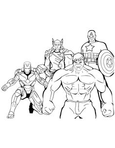 18 Best Hulk Coloring Pages images