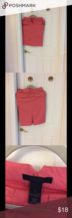 The limited pencil skirt The limited pencil skirt. NWT. Size 2. Beautiful color. Salmon or coral is the color. The Limited Skirts
