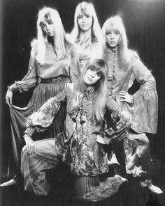 Cynthia Lennon, Maureen Starkey, Jenny and Pattie Boyd in 1966.
