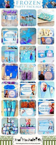 Disney Frozen Birthday Party Package by KraftsbyKaleigh on Etsy Party Fiesta, Festa Party, Frozen Disney, Anna Und Elsa, Disney Frozen Birthday, Frozen Theme Party, 4th Birthday Parties, 3rd Birthday, Birthday Ideas