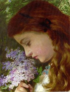 Girl with Lilacs Sophie Anderson (1823-1903)