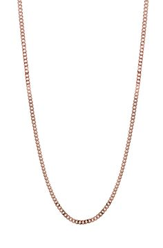 Mister Micro Curb Chain - Rose Gold