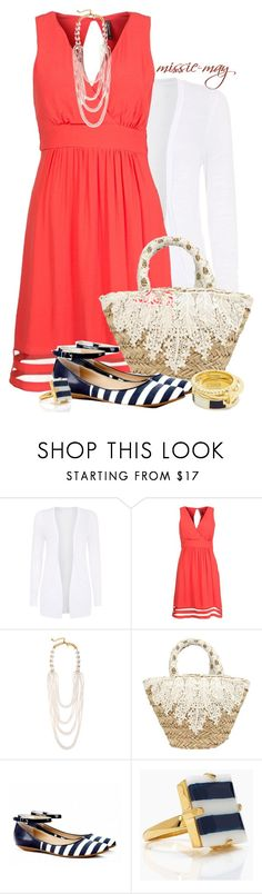 """""""Nautical"""" by missie-may ❤ liked on Polyvore featuring Naf Naf, Oscar de la Renta, Tantra, Sole Society, Kate Spade and Coach"""