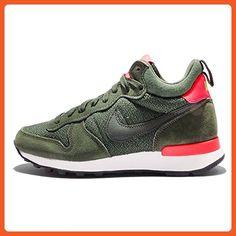 Nike Women's Wmns Internationalist Mid, CARBON GREEN/SQ-BRIGHT CRIMSON-CYBR, 7 US - Athletic shoes for women (*Amazon Partner-Link)