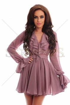 Ana Radu Thoughts Lila Dress Product Label, Dusty Pink, Clothing Items, Elegant, Long Sleeve, Fabric, Sleeves, Clothes, Collection