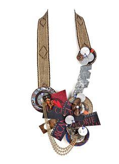 Tota reciclados  Necklace: El ritmo de la vida 2010  Found material, assamblage