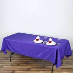 Tablecloth Sizes, Linen Tablecloth, Flower Table Decorations, Purple Wedding Decorations, Wedding Tablecloths, Wedding Table Linens, Table Overlays, Mesas
