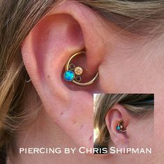 Piercing: Daith Jewelry: Neometal  Piercer: Chris Shipman  Elevation Arts Tattoo & Piercing Studio 2260 S Broadway  Denver, CO  303.961.0283