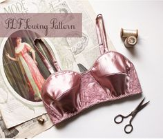 Vintage Style Pin Up Bra Sewing Pattern Ohhh Lulu by OhhhLuluSews, $9.00