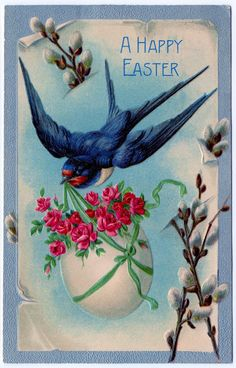 Click on images to enlarge Here are three of my favorite Easter postcards! The one at the top shows a pretty Swallow bird, carrying an egg with flowers. I think this one is my favorite. The funny chick dressed in a Pierrot costume, just cracks me up! And lastly… nothing says cute like a baby...Read More »