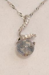crystal swirl pendant
