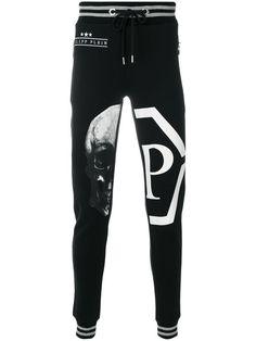 Philipp Plein - Skull And Logo Print Track Pants Jogger Pants, Jeans Pants, Joggers, Sweatpants, Track Pants Mens, Jordan Shoes Girls, Sports Trousers, Printed Pants, Boy Shorts