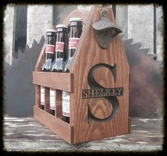 Wooden Beer Tote personalized  Beer Carrier  Beer by MVwoodworks