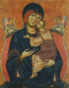 """koredzas: """"Meliore di Jacopo - Madonna and Child with Angels. Religious Images, Religious Icons, Religious Art, Byzantine Icons, Byzantine Art, Statues, Religious Paintings, Madonna And Child, Lady Madonna"""