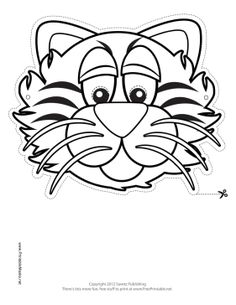 Tiger Mask to Color Printable Mask