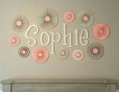 Cute way to do name @ shower