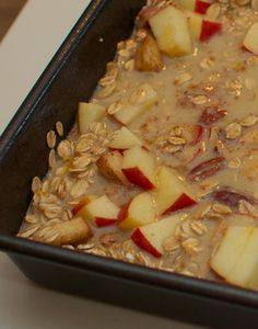Gluten-free, dairy-free Oatmeal Apple Breakfast Bake.