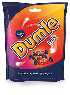 Fazer Dumle Mix Finnish Milk Chocolate Soft Toffee Candy Candies Sweets Chocolates Bag