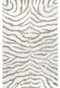 nuLoom Plush Zebra 4-Foot x 6-Foot Area Rug in Grey