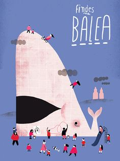 Cinta Arribas pone la imagen de Findes na balea,programa de actividades creativas para niños los fines de semana en la Ciudad de la Culturade Santiago de Compostela.