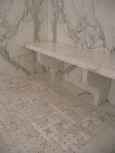 Bench.  I bet my favorite granite place could do this for me, really cool, no lost space to box out.