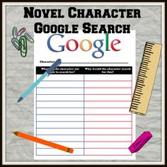 Novel character Google Search. What would they search for and why?