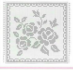 Crochet Mat, Crochet Dollies, Crochet Cushions, Crochet Cross, Cute Cross Stitch, Cross Stitch Borders, Cross Stitch Designs, Cross Stitch Patterns, Filet Crochet Charts