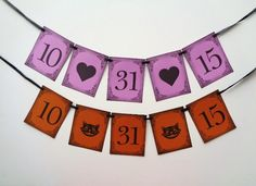 A Halloween inspired banner for decoration or as a photo prop for your Halloween party or Halloween wedding!