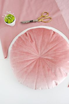 Round Velvet Pillow DIY – A Beautiful Mess