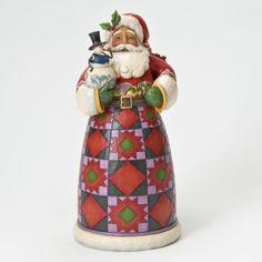 """Spreading Joy"" Santa Holding Snowman - Jim Shore Santa Figurines 4022919 | ENESCO"