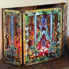 85 best stained glass fire screens images stained glass glass art rh pinterest com