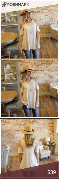 09851f9ec7b Oatmeal Cold Shoulder Tunic! Available next week! Want to be notified when  it s ready