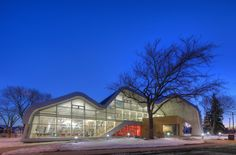 Jasper Place sustainable library, Edmonton, Canada Architects: HCMA/Dub Architects. Bemo roof and wall systems.