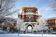 Winter on campus.