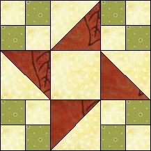 Indiana - Quilt-Pro Systems - Block of the Day Archive - I'm not sure if this is the actual state quilt block.