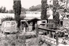 Oct. 1988. Cooks Corner, Orange County, California. This bar was built from a salvaged WWII structure. DSMc.