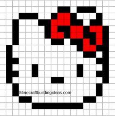 Minecraft Pixel Art Templates: Hello Kitty
