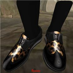6 GB Wing Tip Low Cut Shoes Leopard_001 | Flickr - Photo Sharing!