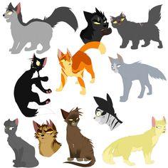 Warrior Cat Batch 1 by DoughWolf.deviantart.com on @DeviantArt