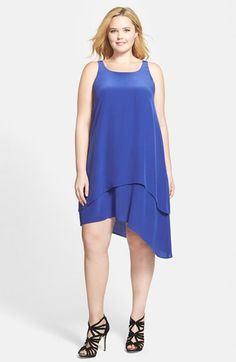 Eileen Fisher Layered Asymmetrical Silk Dress (Plus Size) available at #Nordstrom