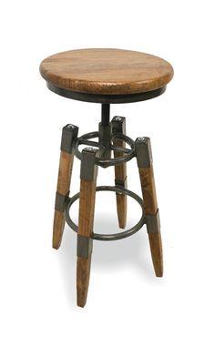 RE-Engineeered Wood & Metal Square Leg Swivel Stool Oak Furniture House, Reclaimed Furniture, Furniture Factory, Garden Furniture Sets, Dining Room Furniture, Industrial Dining, Industrial Furniture, Metal Bar, Wood And Metal