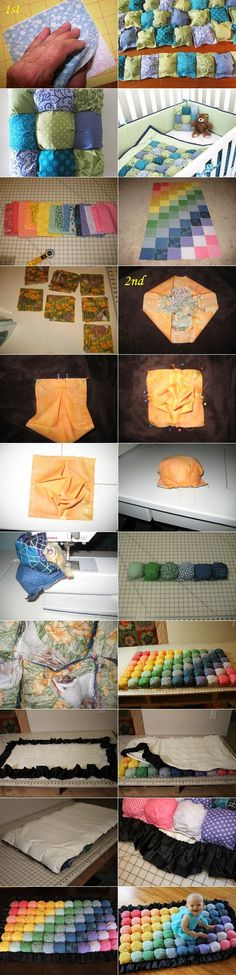 DIY Puff or Biscuit Quilts in 2 Ways | www.FabArtDIY.com LIKE Us on Facebook ==> https://www.facebook.com/FabArtDIY