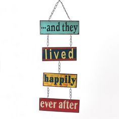 Wholesale And they lived metal hanging sign - Something Different