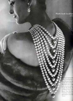 Vogue - 1958 - Flash-back necklace  I adore wearing this too! :))