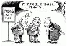 ZAPIRO cleverly uses Rock, Paper and Scissors as a device for this political cartoon. University Of Cape Town, Rock Paper Scissors, Study Architecture, Political Cartoons, Editorial, Africa, Jokes, Politics, Chistes