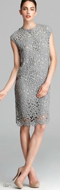 Max Mara Studio ● Knitted lace dress - Another good choice for the Oscar Nominee Luncheon.