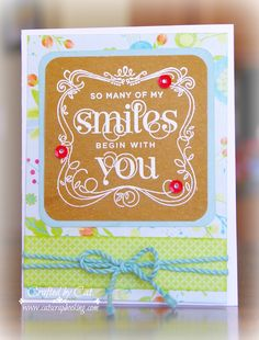 CatScrapbooking: TECHNIQUE BLOG HOP ~ EMBOSSING IS BACK #A1172SmilesBeginWithYou #Blossom #heatembossing
