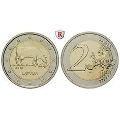 Lettland, 2 Euro 2016, bfr.: Kupfer-Nickel-2 Euro 2016. Milchwirtschaft. bankfrisch 5,00€ #coins