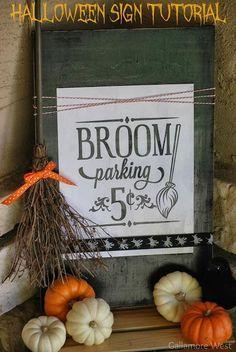 DIY Halloween Crafts : DIY Halloween Sign